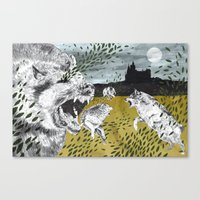 Ring of Wolves Canvas Print