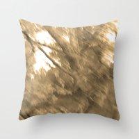 Treeage I - Sepia Throw Pillow