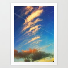 Beauty clouds Art Print