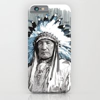 iPhone Cases featuring Native American Chief by Rik Reimert
