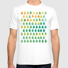 Monsoon Rain Mens Fitted Tee White SMALL