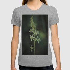 Green nature in the darkness Womens Fitted Tee Athletic Grey SMALL