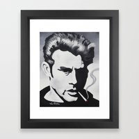 James Dean Black and White Forever YOUNG Framed Art Print