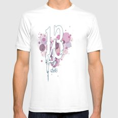143 SMALL White Mens Fitted Tee