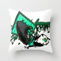 HUMAN FLY 2 Throw Pillow