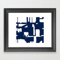 Navy City Framed Art Print