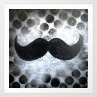 Le mustachio Art Print