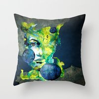 Evelin Green (Set) By Ca… Throw Pillow