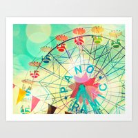 Panoramic Carnival Ferri… Art Print