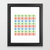 KANTO Starter Framed Art Print