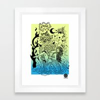 KAPUT X STREETART.COM Framed Art Print