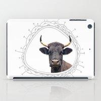 Yellow Horns iPad Case