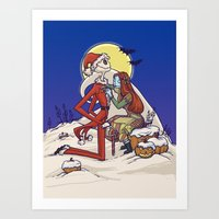 The Holiday Hero Art Print