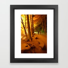 The Golden Path II Framed Art Print