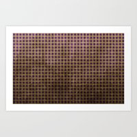Royal Purple - Textured … Art Print