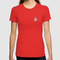 Star Trek Communicator Womens Fitted Tee Red SMALL