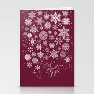 Let It Snow - Berry Stationery Cards