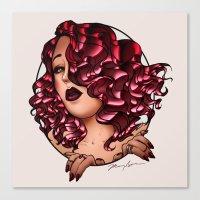 Redhead Vamp Canvas Print