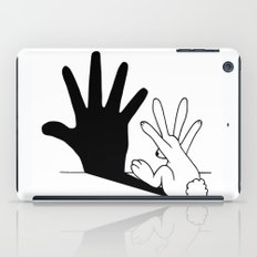 Rabbit Hand Shadow iPad Case