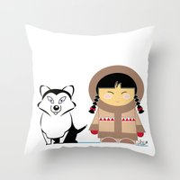 Little Inuit Throw Pillow