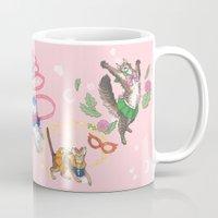 Sailor Kitties Pink Pattern Mug