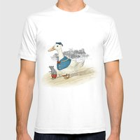 Donald and Mickey Mens Fitted Tee White SMALL