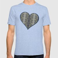 Lacy Seas Mens Fitted Tee Tri-Blue SMALL