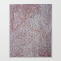 Canvas Print featuring Map of Time and Space by Tara Bateman