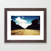 Open Road, Louisiana Framed Art Print
