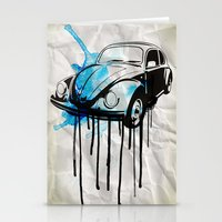 VW Beetle Drip Stationery Cards