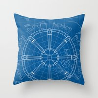 Project Midgar Throw Pillow