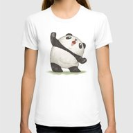 Panda Womens Fitted Tee White X-LARGE