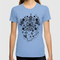 Costok 1 Womens Fitted Tee Tri-Blue SMALL