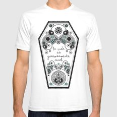 The Life SMALL White Mens Fitted Tee
