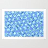 Wallflower - Colony Blue Art Print