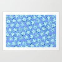 Wallflower - Colony Blue Art Print