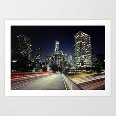 Black River, Your City Lights Shine Art Print