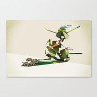 Walking Shadow, Turtles Canvas Print