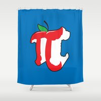 Apple Pi Shower Curtain