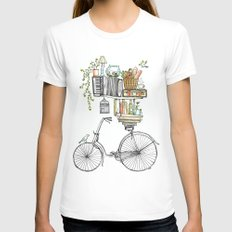 Pleasant Balance Womens Fitted Tee White SMALL