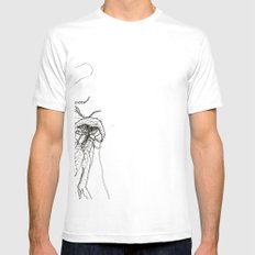 Jellyfishes Mens Fitted Tee SMALL White