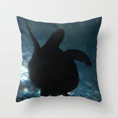 Deep Turtle Throw Pillow