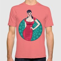 SkullGal Mens Fitted Tee Pomegranate SMALL