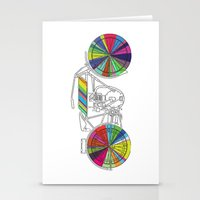 Rainbow Cycle Stationery Cards
