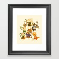 The Counting Crew Framed Art Print