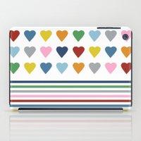 Hearts Stripes iPad Case