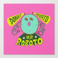 Donut Arigato Canvas Print