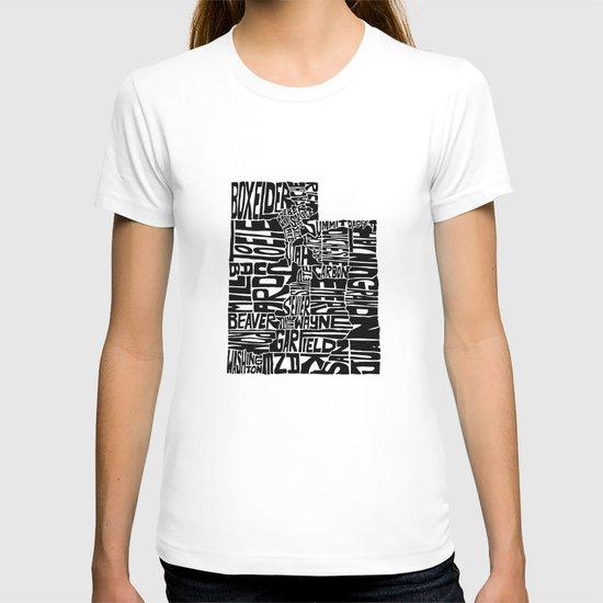 Typographic Utah T-shirt