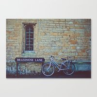 Bike, Wall And Window- O… Canvas Print
