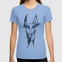 face of the animals Womens Fitted Tee Athletic Blue SMALL